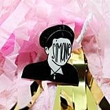 Simone de Beauvoir Plastic Pin