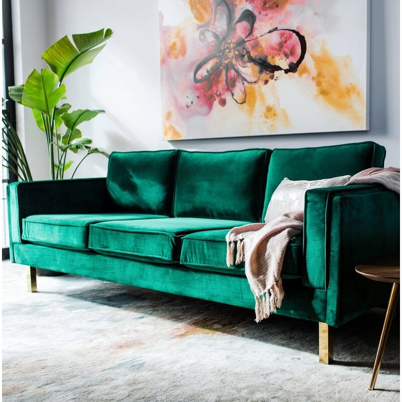 Claybrooks Velvet 87 Square Arm Sofa 37 Stunning Furniture Pieces Your Living Room Is Begging For All From Wayfair Popsugar Home Photo 9