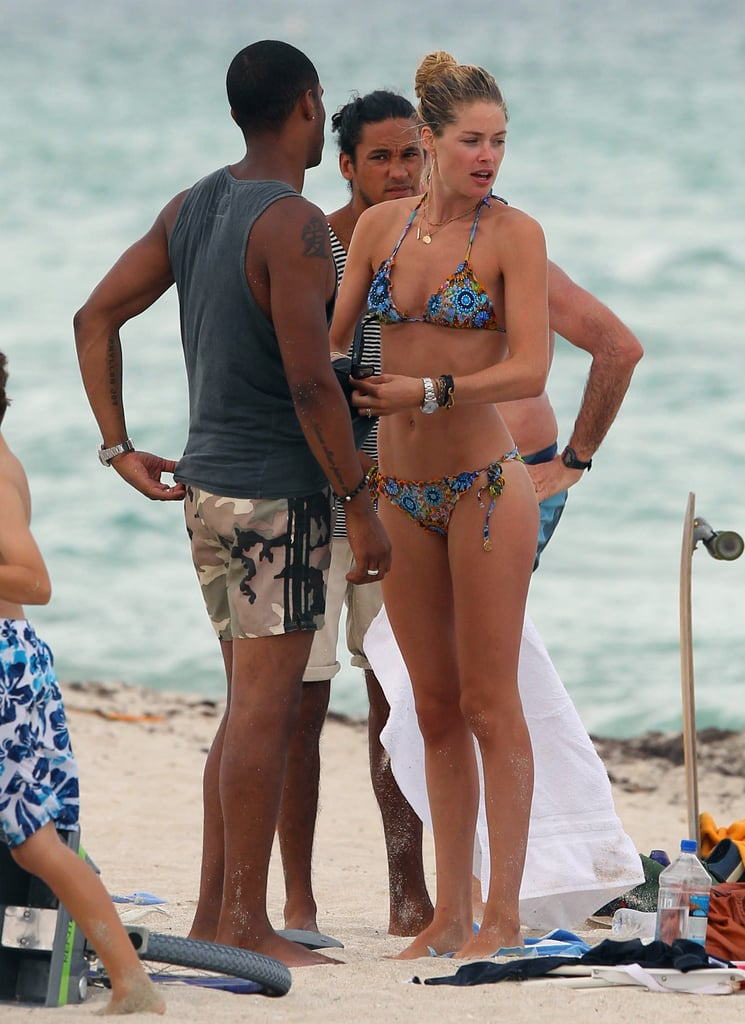 Doutzen Kroes and Sunnery James hung out at the beach.