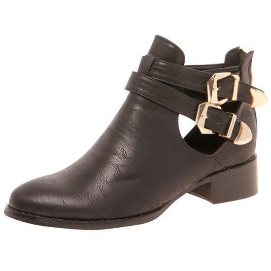 Buckle Cutout Ankle Boots From Boohoo