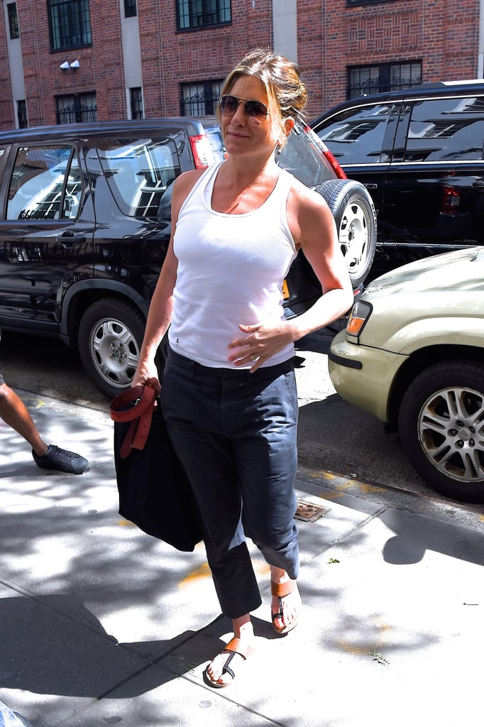 Jen Is Proving a White Tank Is This Season's Most Versatile Staple