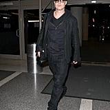 Brad Pitt in All Black at LAX