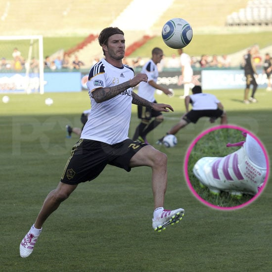 David Beckham Wears Soccer Cleats With