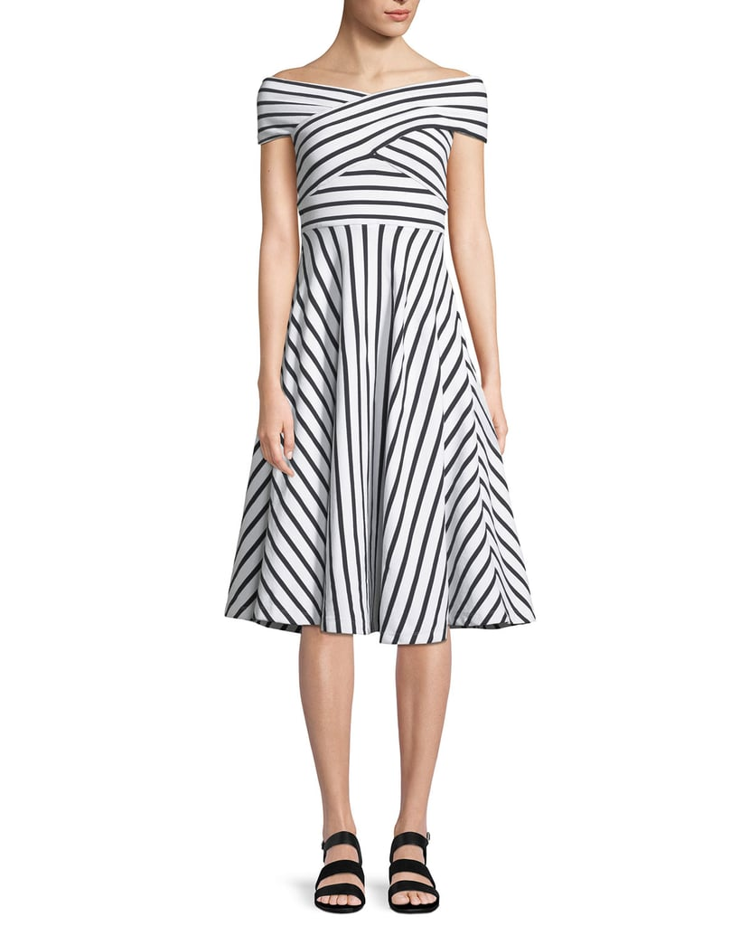 Milly Jill Striped Off-the-Shoulder Dress | Melania Trump\'s Carolina ...