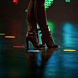 Britney Spears wore boots for her Twister Dance shoot.