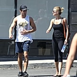 Emily VanCamp and Josh Bowman Show PDA After the Gym