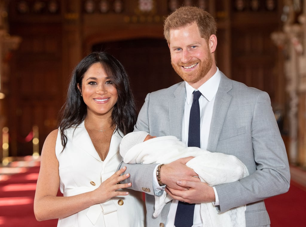 "When Meghan Markle gave birth to her first child with Prince Harry on May 6, we couldn't wait to get a first look at their baby boy. Well, that time has finally arrived! On Wednesday, the Duke and Duchess of Sussex made their first appearance as a family of three when they stepped out for a photocall at Windsor Castle with their beautiful son. Harry proudly held his son as Meghan stroked his head and described being a parent as ""magical."" The prince joked that the baby has ""already got a bit of facial hair!"" Baby Sussex was born at 5:26 a.m. on Monday and weighed in at seven pounds and three ounces. He is the first-ever British-American baby born into the royal family. Shortly after his arrival, Harry couldn't contain his excitement while talking to the press. ""It's been the most amazing experience I could ever possibly imagine,"" the new dad said. ""How any woman does what they do is beyond comprehension, but we're both absolutely thrilled and so grateful to all the love and support from everybody out there."" Hopefully, this means we'll be seeing more of the little one very soon!      Related:                                                                                                           Harry and Meghan's Relationship Timeline Proves That When You Know, You Know"