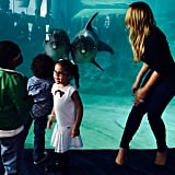 Mariah Carey took twins Monroe and Moroccan on a fun trip to the aquarium.