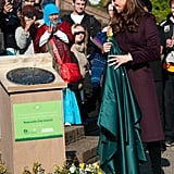 Kate Middleton took part in a tour of a community garden in Newcastle upon Tyne.