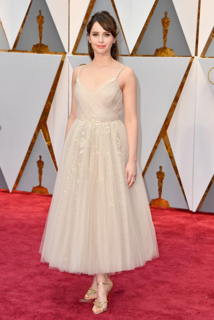 Felicity Jones Is a Damsel in Dior at the Oscars