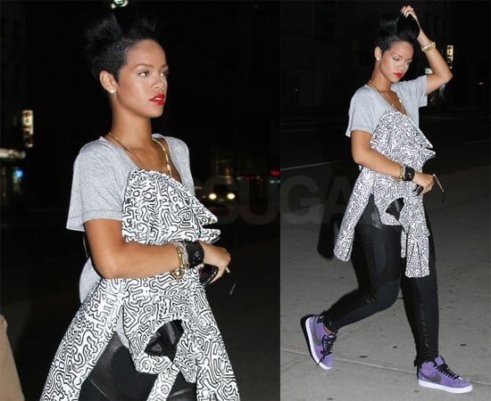 Photos of Rihanna in NYC, Rumored to Kiss Boy at Strip Club