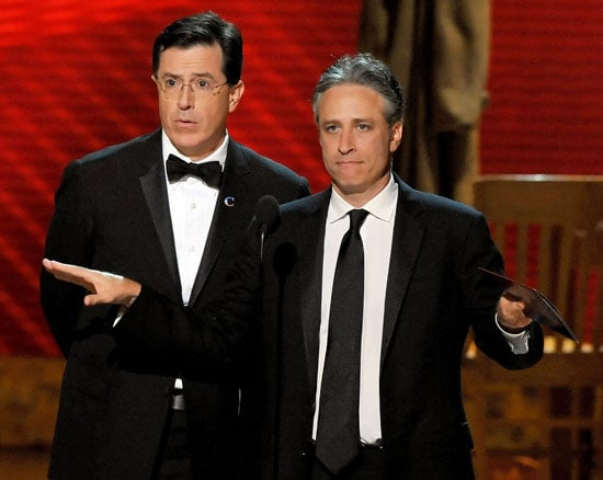 Live From the Emmy Press Room: Jon Stewart and Stephen Colbert