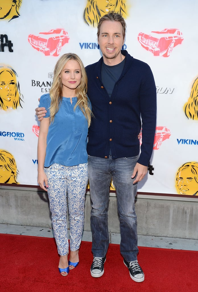 Kristen Bell wore Vanessa Bruno last night to join her fiancé, Dax Shepard, for a GenArt screening of their movie, Hit and Run, at LA's Downtown Independent Theater. The real-life couple worked on the comedy together, along with costars Joy Bryant, Tom Arnold, and Bradley Cooper. Bradley wasn't able to join Kristen, Dax, Tom, and Joy for the question-and-answer session last night, though.  Kristen and Dax are taking their promotional show on the road before its Aug. 24 release. They're going to Michigan's Traverse City Film Festival to show off the movie in early August. The location couldn't be better for a screening, since Traverse City is not far from their mutual hometown of Detroit. The picture's release comes after a big year for Kristen, who starred in the Showtime series House of Lies — find out where she ranked in the 2012 PopSugar 100!