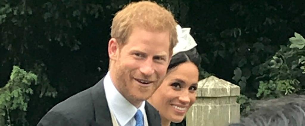 Prince Harry and Meghan Markle at Celia McCorquodale Wedding