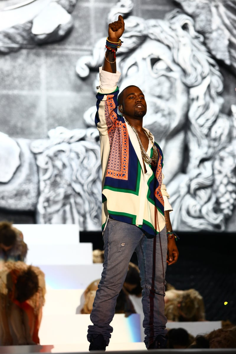 Kanye West performed in 2011.