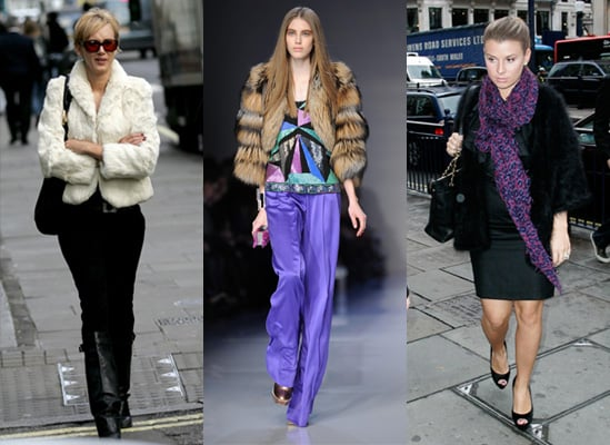 Faux fur jacket, high street, Coleen Rooney, Kimberly Stewart