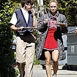 Kevin McHale and Becca Tobin ate lunch in LA between scenes for Glee on Wednesday.