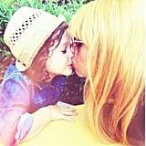 Rachel Zoe gave a sweet smooch to her son Skyler. Source: Instagram user rachelzoe