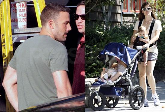 Photos of Ben Affleck, Jennifer Garner, Violet Affleck, And Seraphina Affleck in Boston