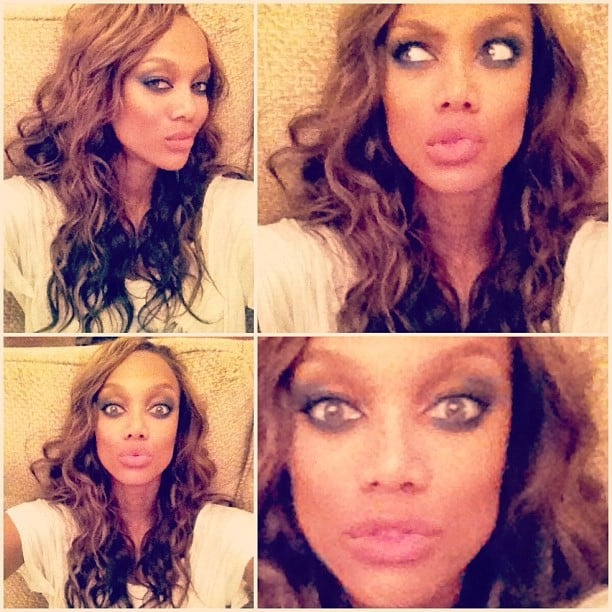 Tyra Banks took some photo-booth-inspired shots. Source: Instagram user tyrabanks