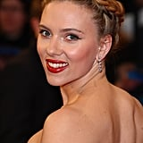 Scarlett Johansson wore a braid on the the red carpet for the premiere of The Avengers in London.
