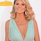 Heidi Klum's Alexandre Vauthier gown had a plunging neckline.
