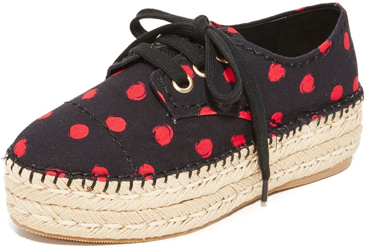Add a polka-dot print to your shoe rotation with these Alice + Olivia Rory Espadrille Platform Sneakers ($250).