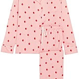 DKNY The Match Up Polka-dot Washed-satin Pajama Set - Baby pink
