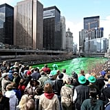 Huge crowds make their way to the riverbanks.