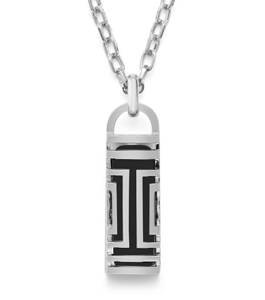 Tory Burch For Fitbit Fret Pendant Necklace in Silver ($175)