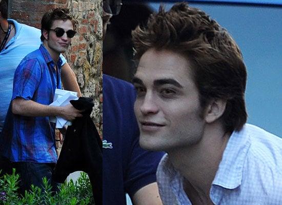 27/5/2009 Robert Pattinson Kristen Stewart Filming New Moon