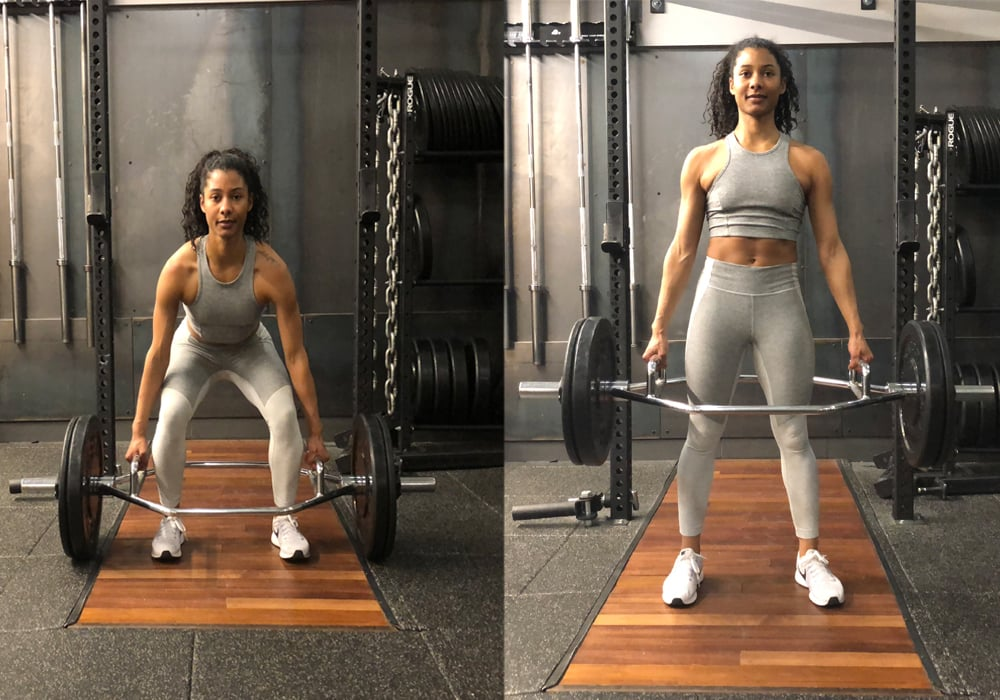 Supertset 1, Exercise 2: Deadlift With Hex Bar