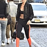 The Gigi Formula: Bomber, Sports Bra, Leggings, Sneakers, Top Knot