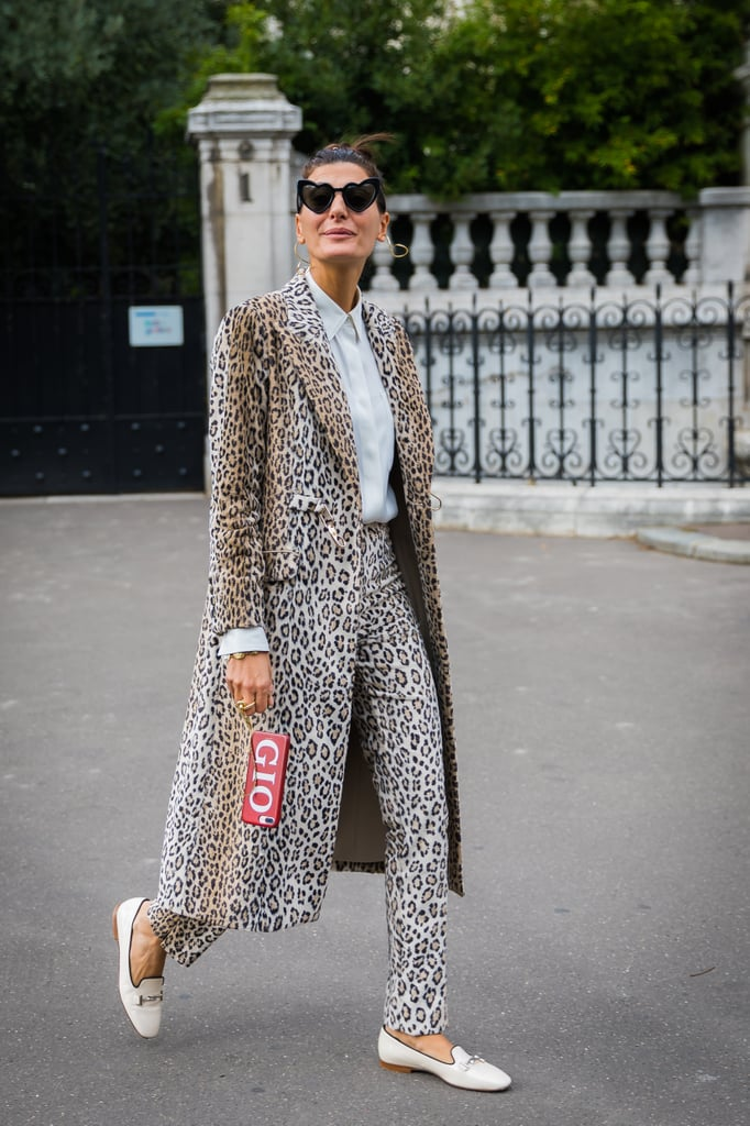 Bring an Intense, Full Leopard Look Back Down to Earth With Simple Loafers