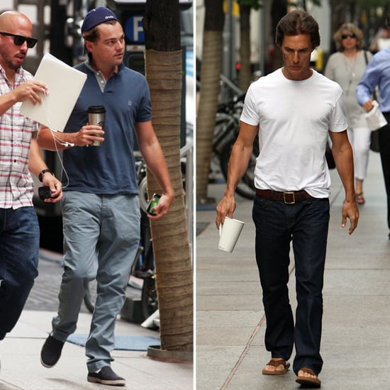 Leonardo DiCaprio and Matthew McConaughey Go to Work on Wall Street