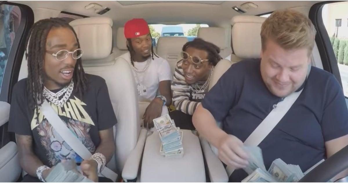 Migos S Carpool Karaoke With James Corden 2018 Popsugar Entertainment