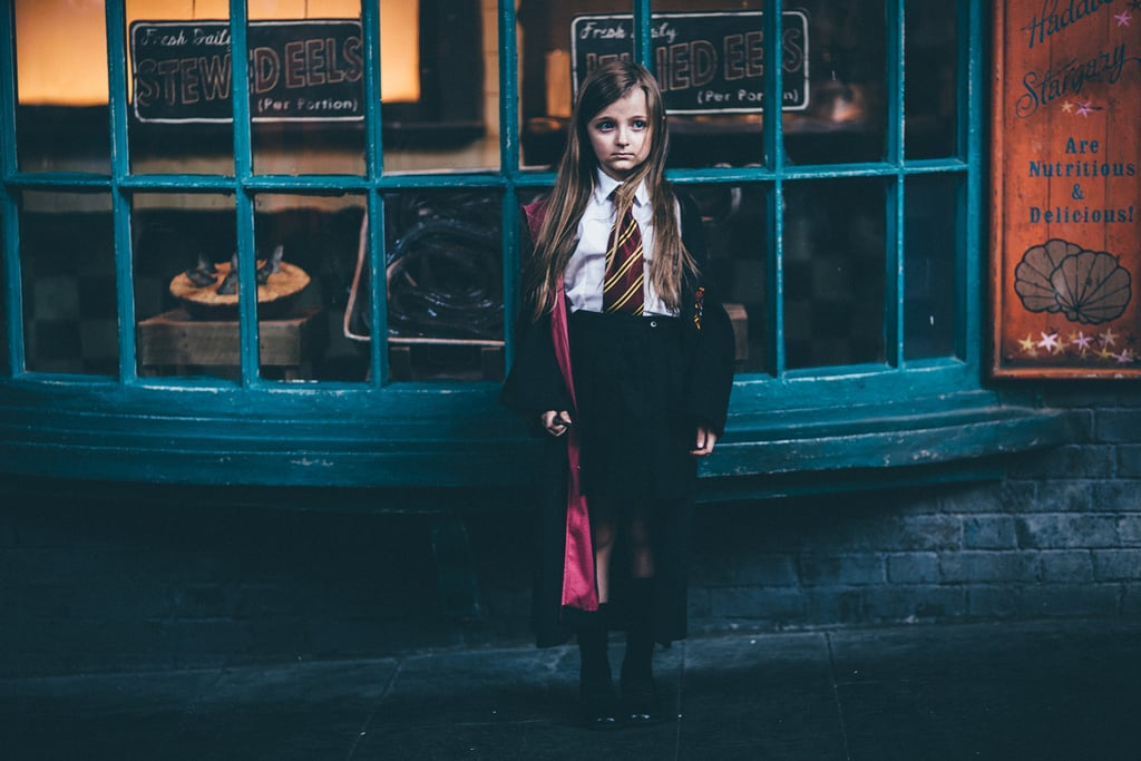 Emma at The Wizarding World of Harry Potter for her seventh birthday.