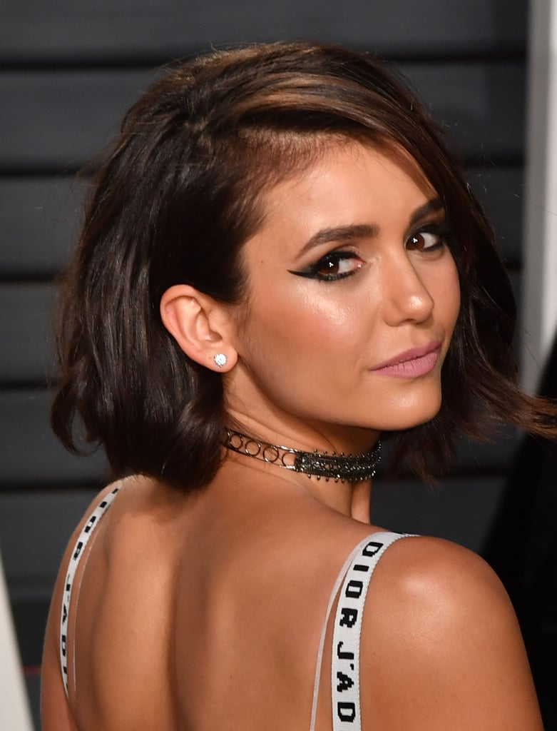 You'll Never Guess What $4 Product Nina Dobrev Used as Matte Lipstick - Nina Dobrev Makeup Vanity Fair Oscars Party 2017 POPSUGAR Beauty