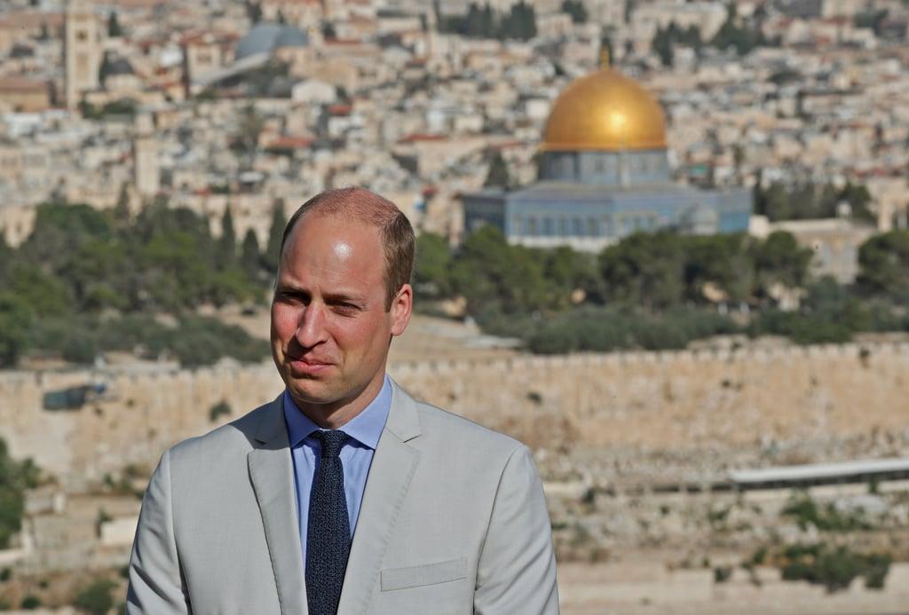 Prince William in Jerusalem June 2018