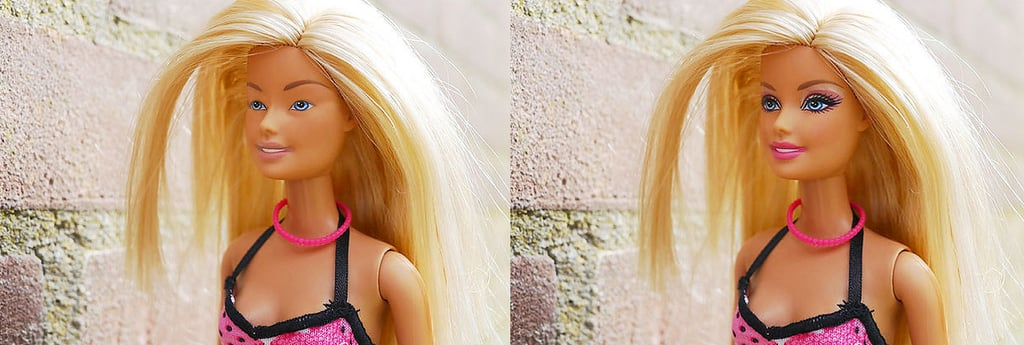 Barbie With and Without Makeup