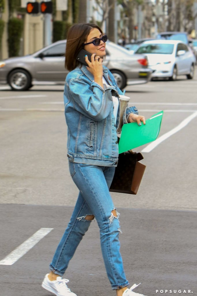 Selena Gomez Wearing Denim on Denim