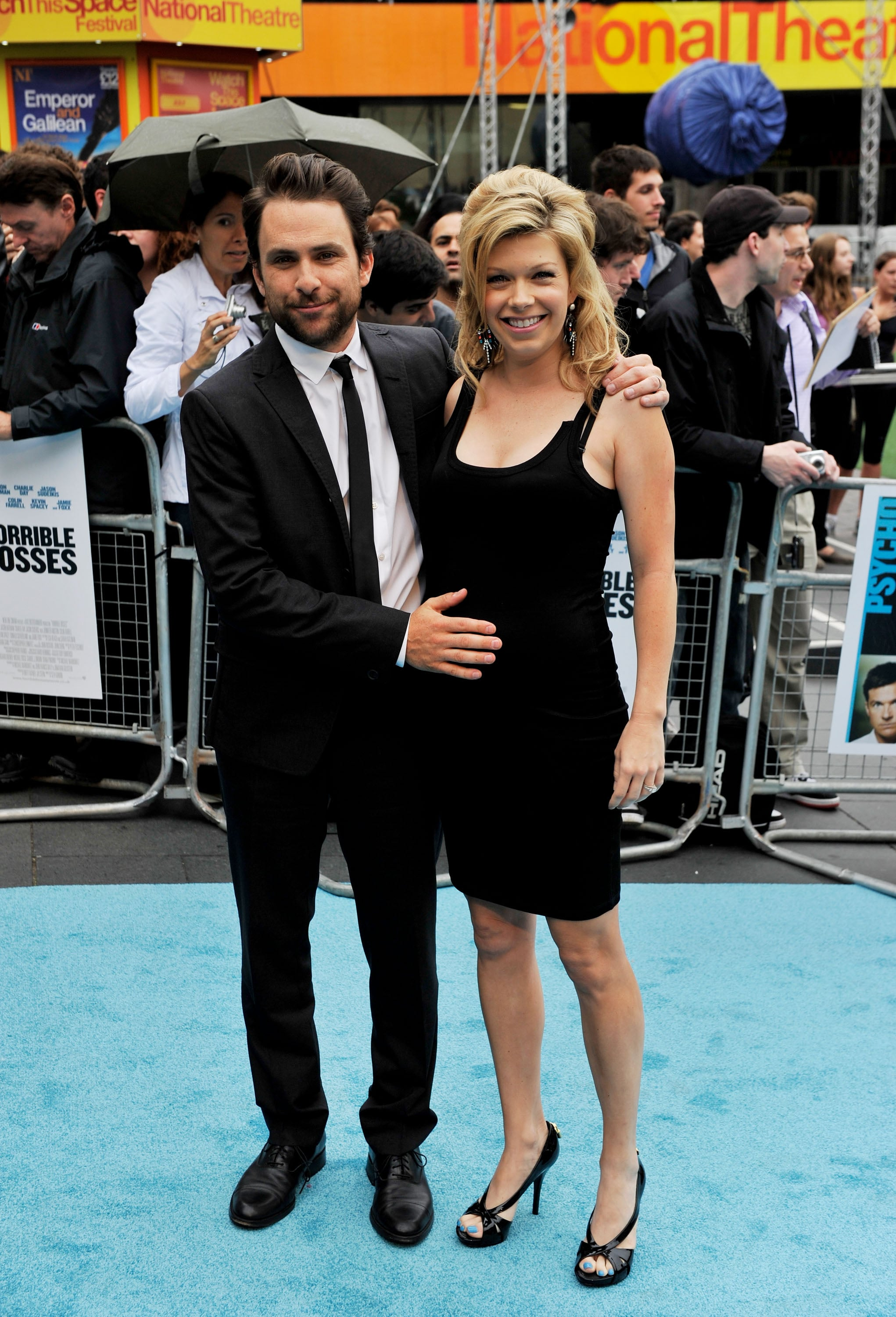 Charlie Day poses with his pregnant wife, Mary Elizabeth Ellis.