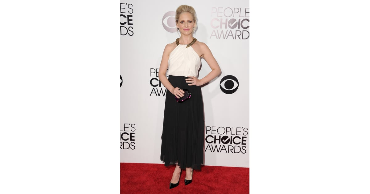 Sarah Michelle Gellar Was A Vision In Black And White At