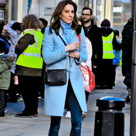 Kate Middleton's Baby-Blue Coat and Matching Turtleneck