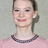 Mia Wasikowska posed at Miu Miu.