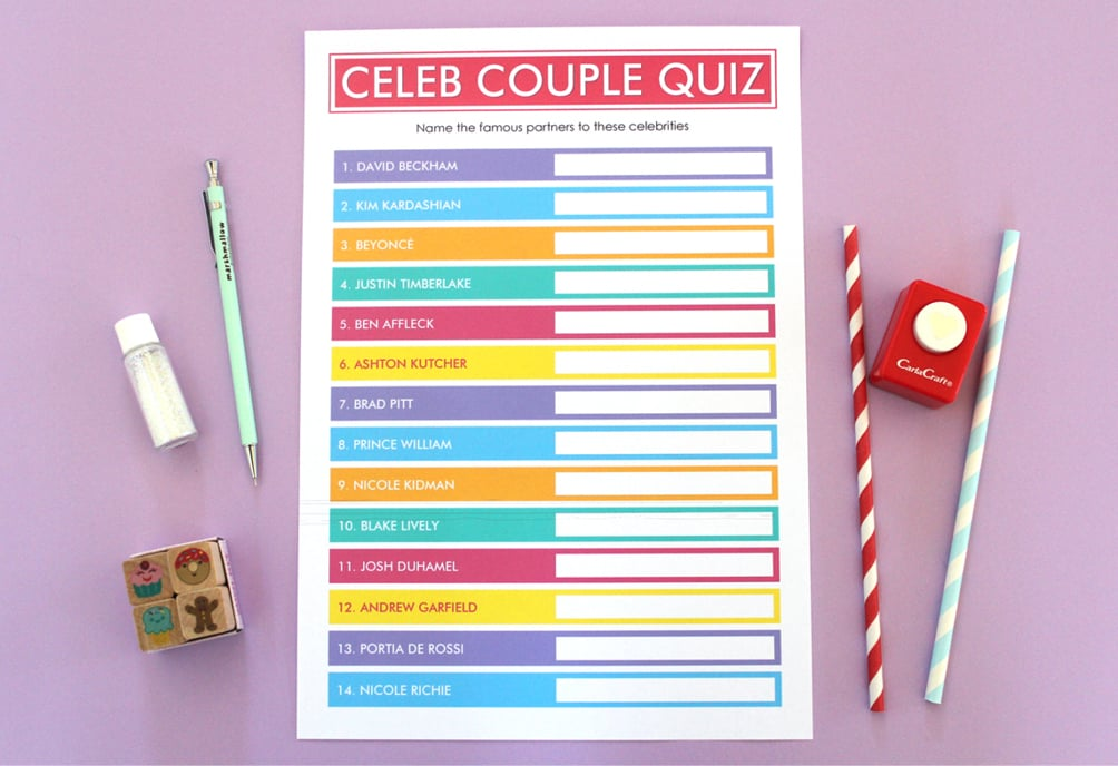 graphic regarding Printable Bachelorette Games titled Absolutely free Bachelorette Bash Printables POPSUGAR Sensible Dwelling
