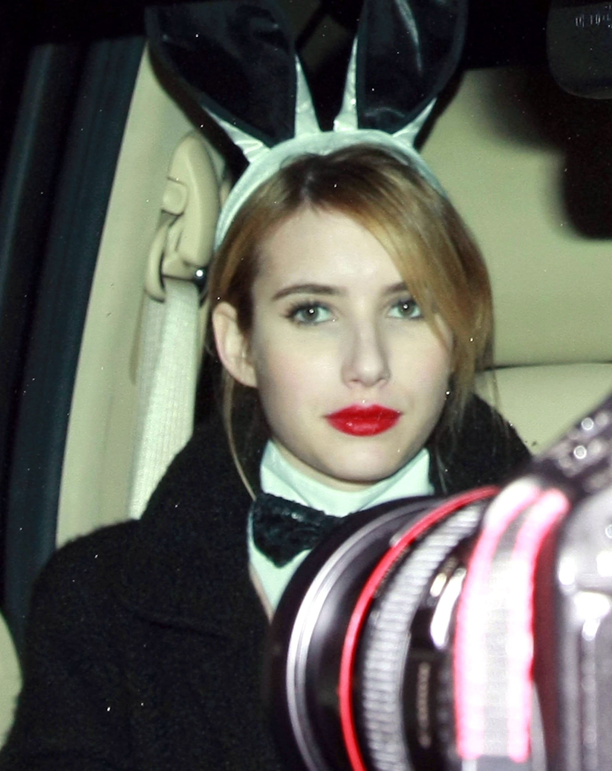 Emma Roberts As A Playboy Bunny At Kate Hudson S Halloween Party Kate Hudson S Halloween Party Brings Out Gwen Nicole Jessica And More Costumed Stars Popsugar Celebrity Photo 33