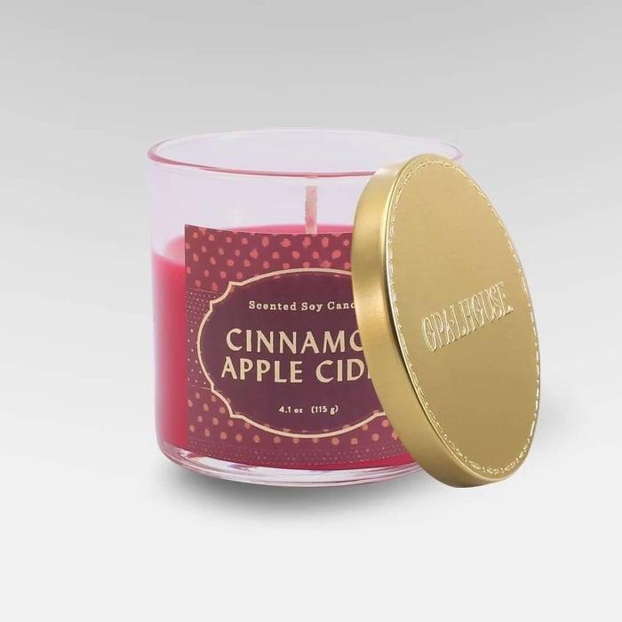 Cinnamon Apple Cider Lidded Glass Jar Candle