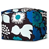 Kukkatori print pouf in blue ($50)