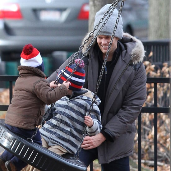 Tom Brady With Jack and Ben After Vivian's Birth